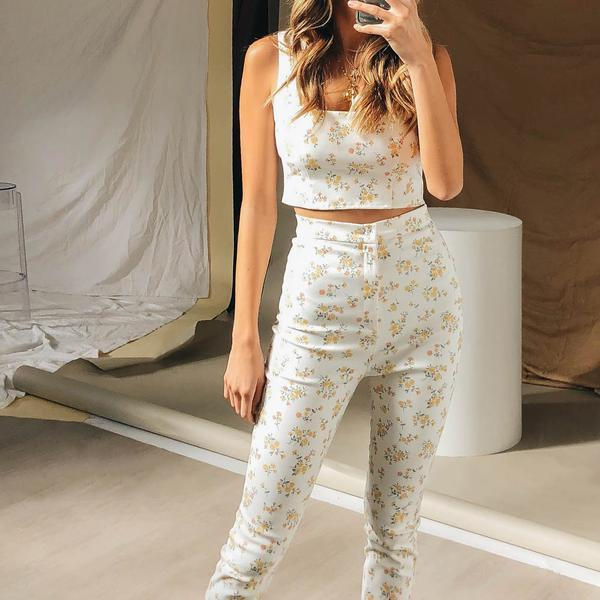 Sun-Drenched Italy Pants // Floral