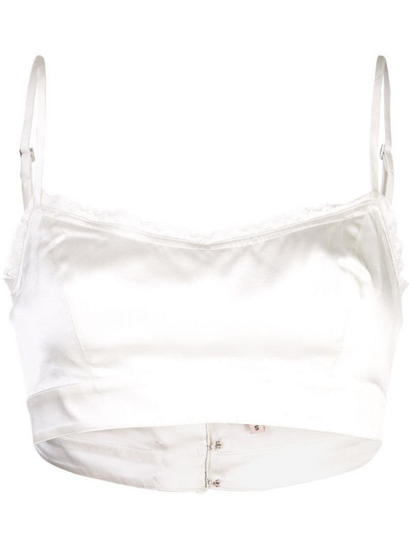 Morgan Lane Noelle bra top in white