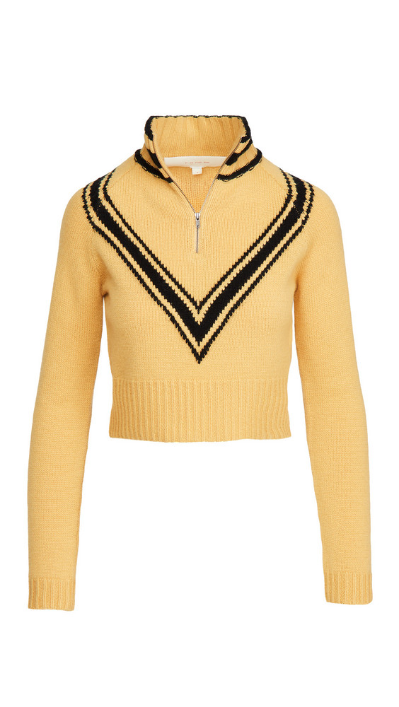 By any Other Name Cropped Zip Pullover in black / gold