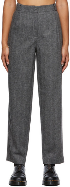 A.P.C. A.P.C. Grey Louise Trousers in black