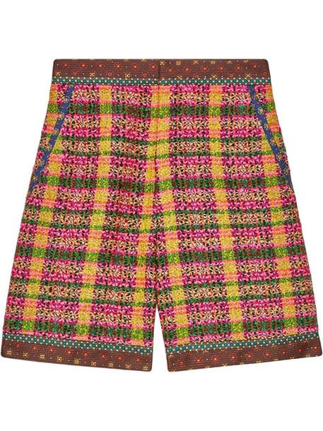 Gucci checked tweed shorts