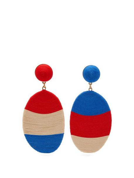 Maryjane Claverol - Rondinone Corded Clip Earrings - Womens - Red