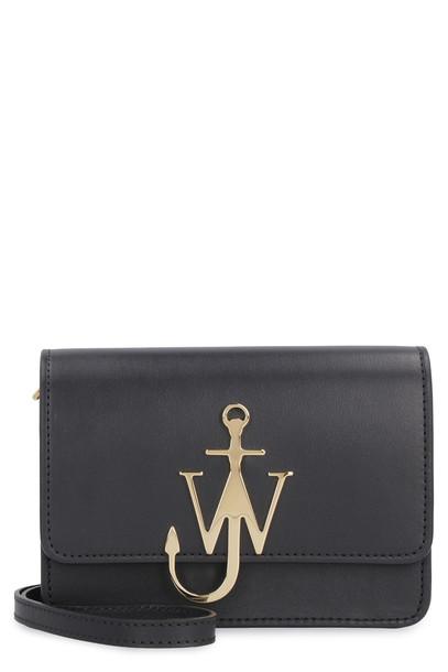 J.W. Anderson Anchor Logo Leather Shoulder Bag in black