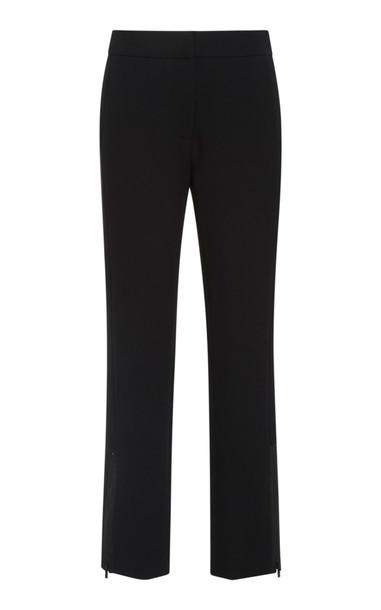 Tibi Anston Crepe Straight-Leg Pants Size: 10 in black