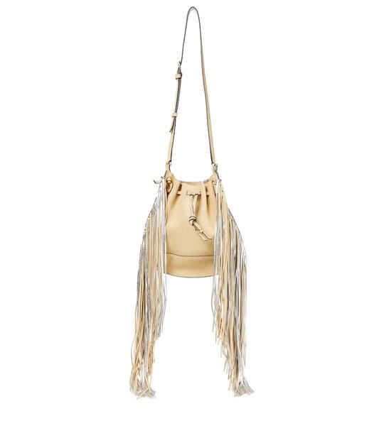 Isabel Marant Oskaf leather shoulder bag in beige