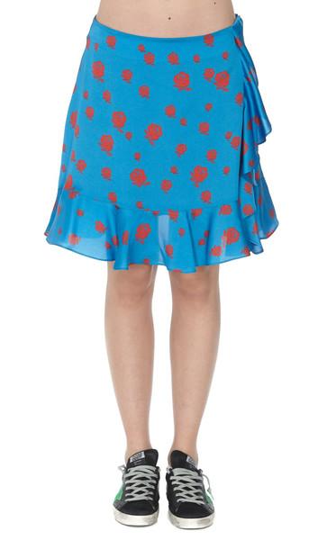 Kenzo Soft Ruffled Skirt in cobalt