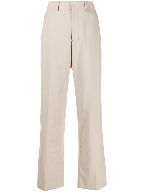 AMI Paris wide-fit trousers in neutrals