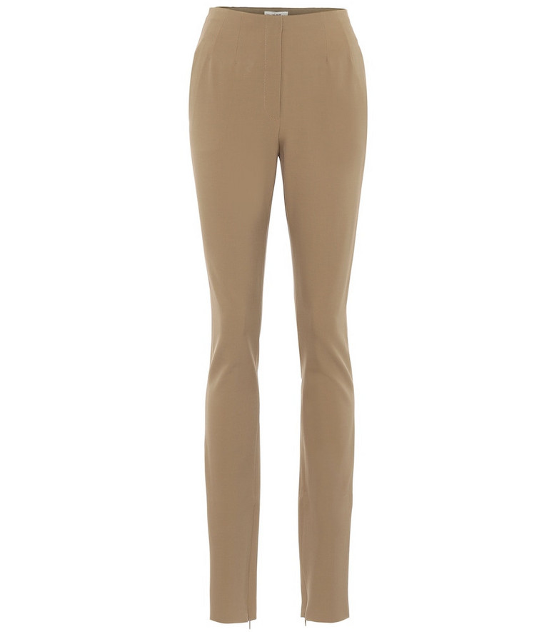 The Row Corso stretch wool-blend pants in neutrals