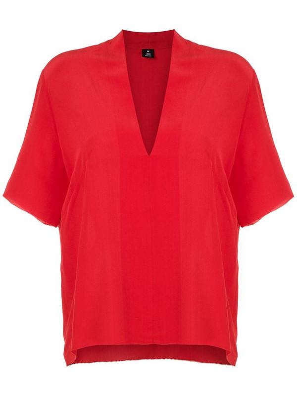 Osklen V-neck blouse in red