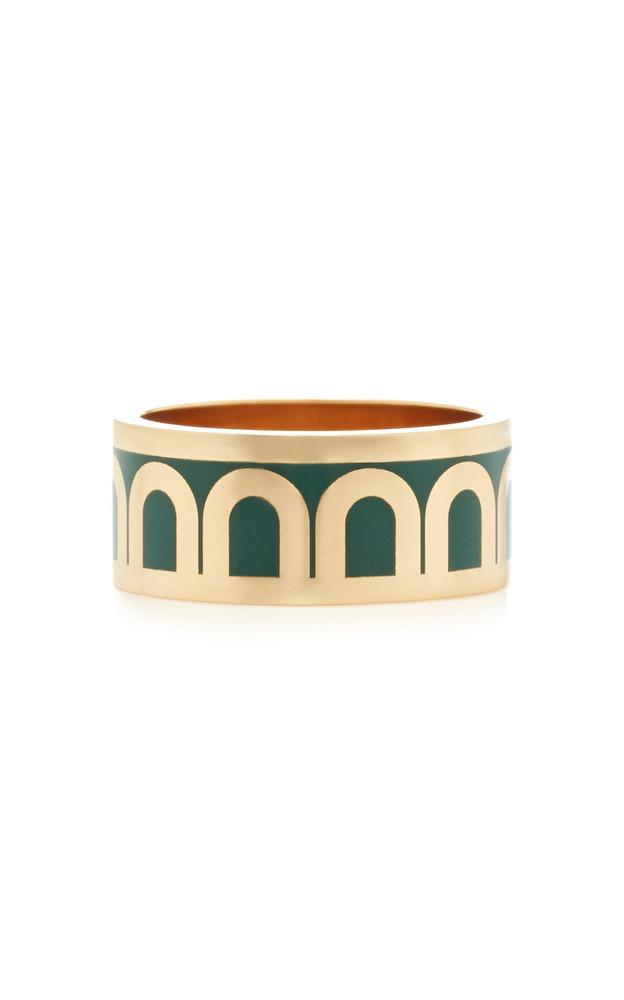 DAVIDOR L'Arc 18K Gold Ring in green