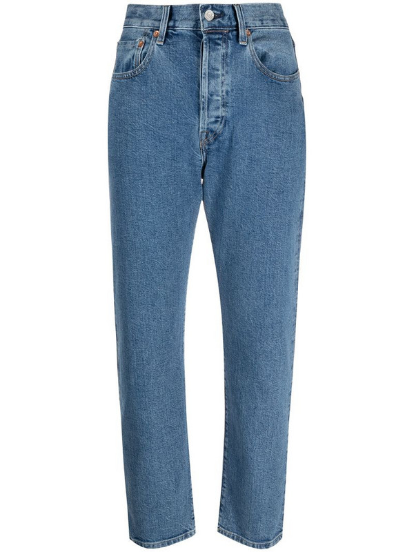 Levi's: Made & Crafted mid-rise slim-cut jeans in blue