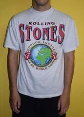 top,rolling stones t shirt,music,music tshirt,rock,band t-shirt,celebrity,streetstyle