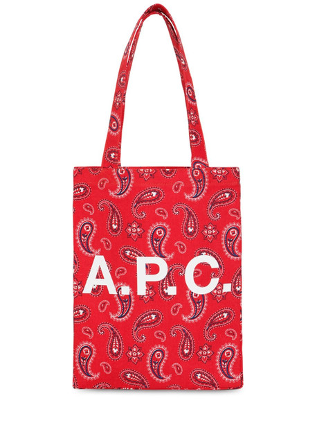 A.P.C. Bandana Printed Cotton Tote Bag in red