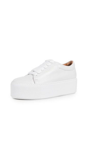 Acne Studios Drihanna Logo Sneakers in white