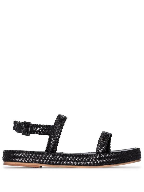 St. Agni Black Lori woven leather sandals