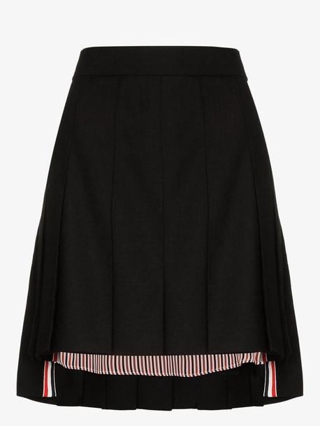 Thom Browne Dropped back pleated mini skirt in black