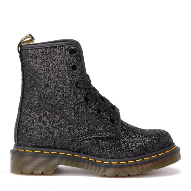 Dr. Martens Amphibious Boot Model 1460 In Black Glittery Leather