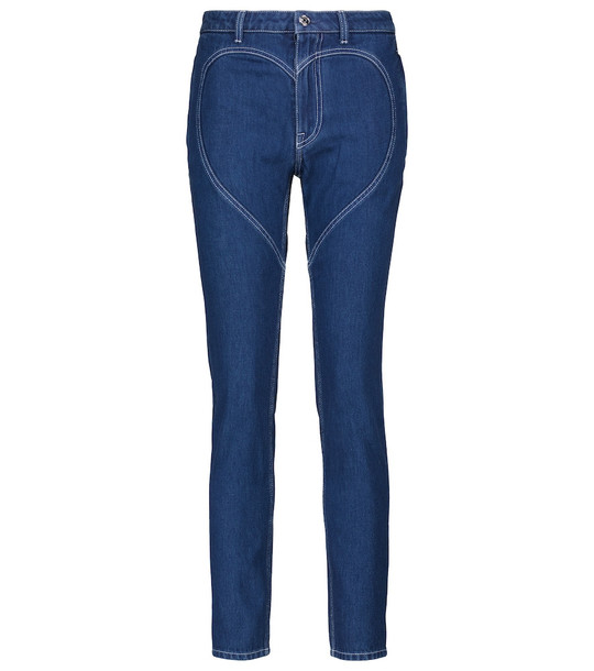 Burberry Mid-rise skinny jeans in blue
