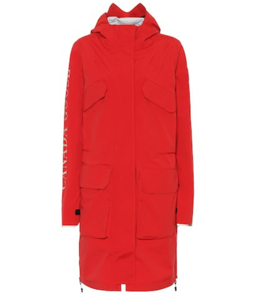 Canada Goose Seaboard parka in red