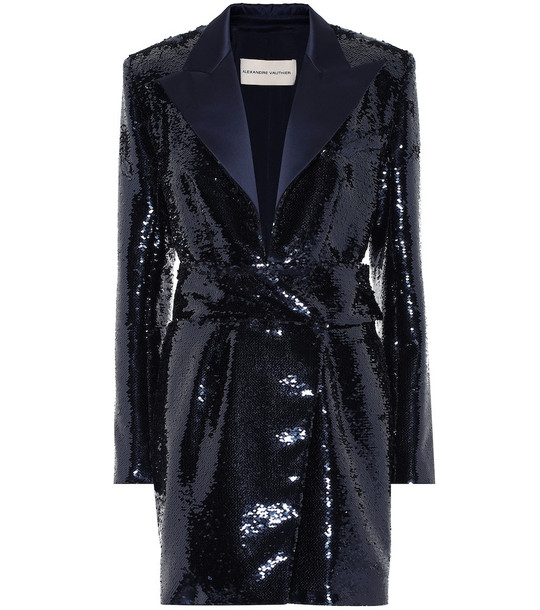 Alexandre Vauthier Sequined minidress in blue
