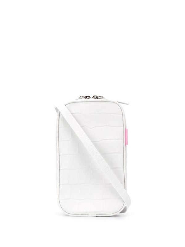 tubici Los Angeles embossed belt bag in white