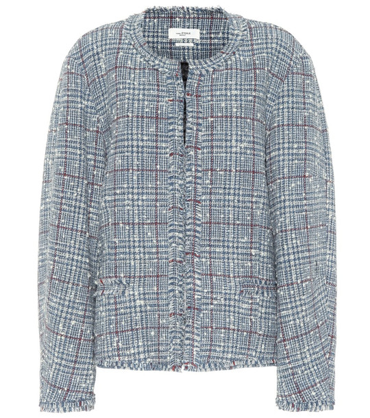 Isabel Marant, Étoile Ovia checked wool-blend jacket in blue
