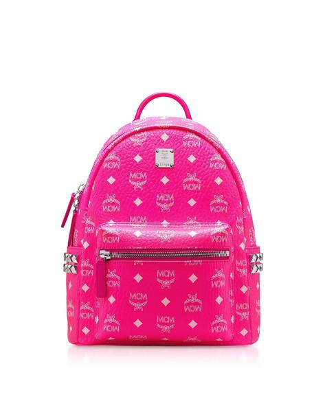 Mcm Neon Pink Stark Backpack 32 Cm