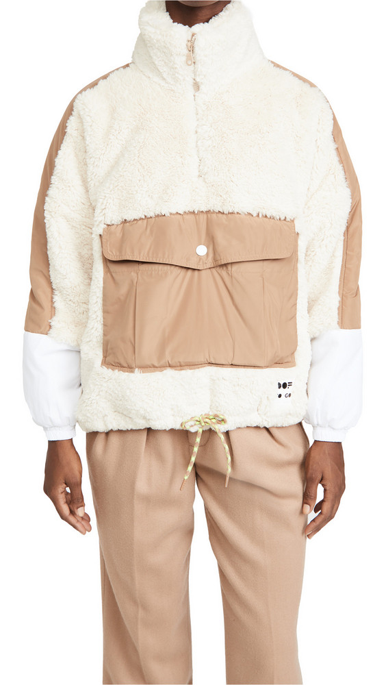 OOF Front Pocket Pullover in white