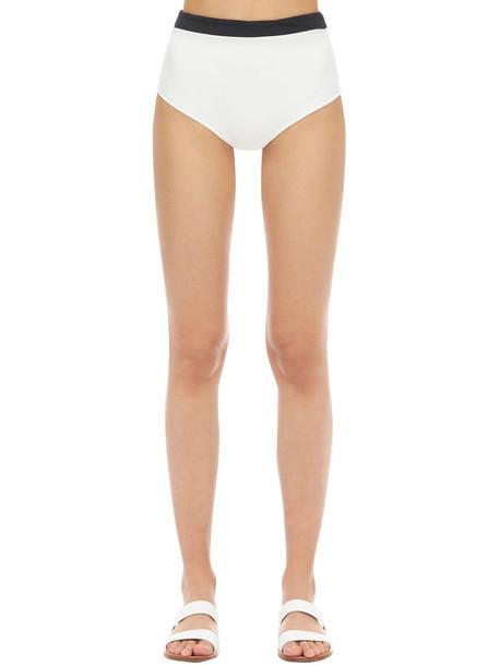 AEXAE Boy Short Bikini Bottoms in black / white