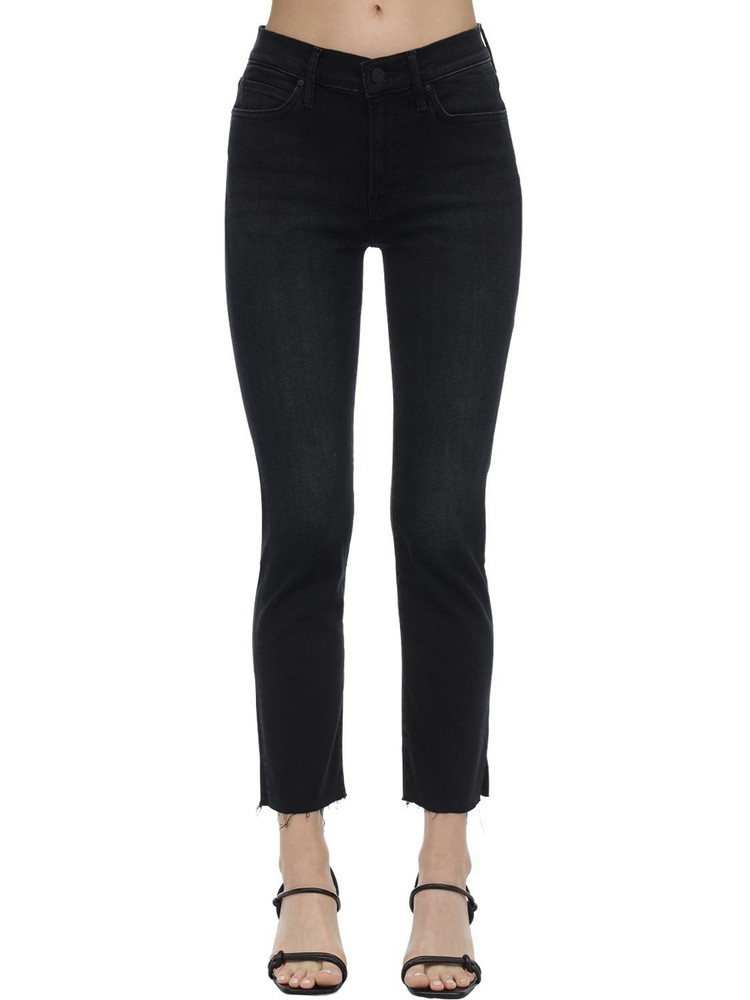 MOTHER The Rascal Stretch Cotton Denim Jeans in black