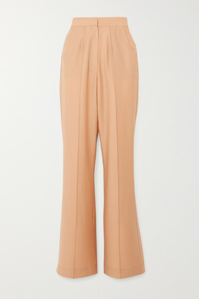 Lado Bokuchava - Pintucked Woven Wide-leg Pants - Beige