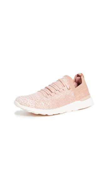 APL: Athletic Propulsion Labs TechLoom Breeze Sneakers in tan / rose