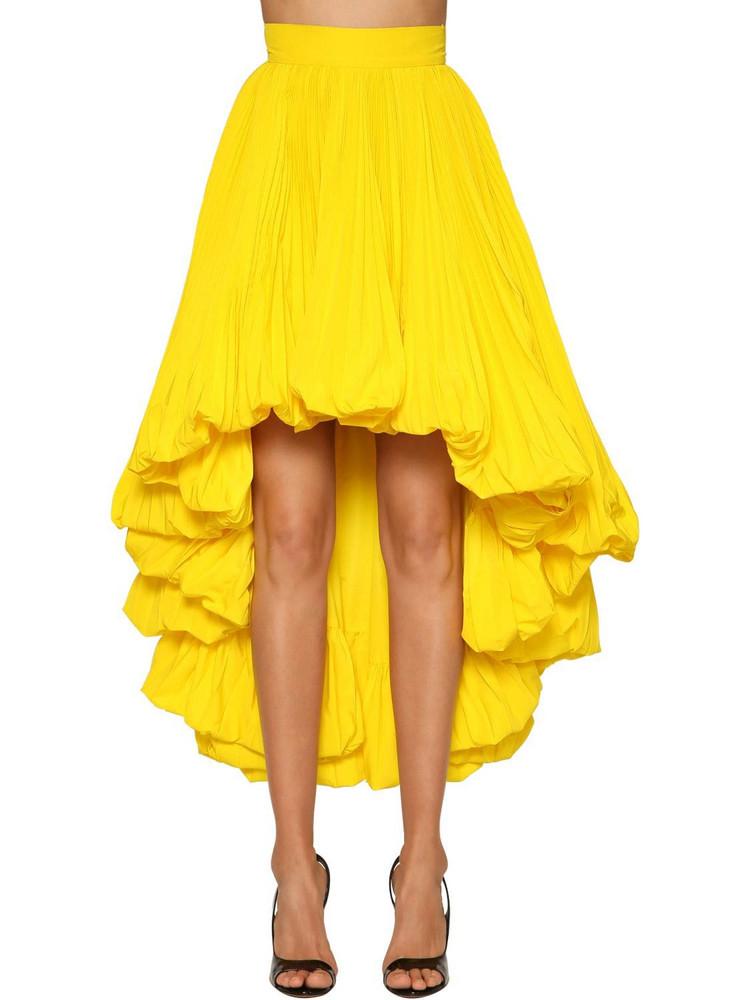 ALEXANDRE VAUTHIER Faille High Waist Asymmetric Skirt in yellow