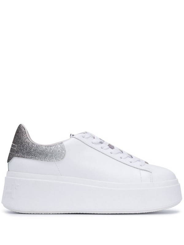 Ash Moby Glitter Combo low-top sneakers in white