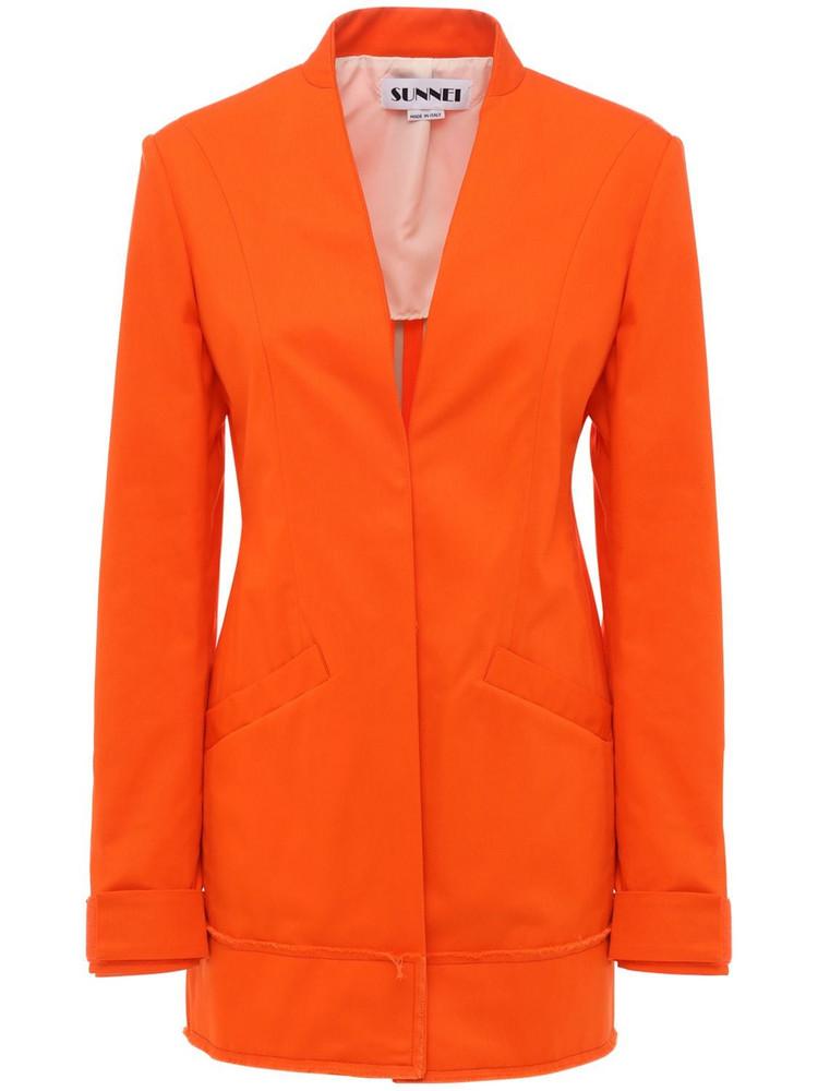 SUNNEI Single Breast Workwear Blazer in orange
