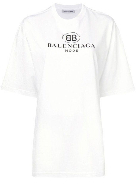 Balenciaga BB Mode T-shirt in white