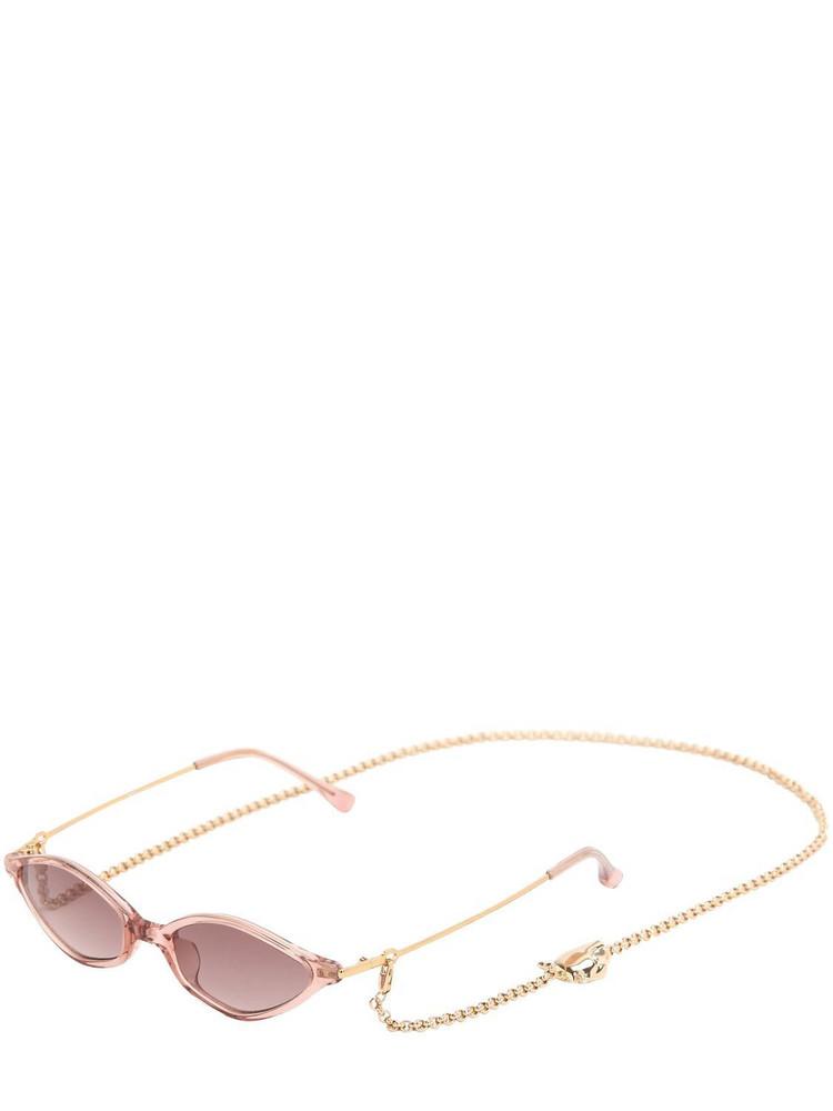 Alessandra Rich Acetate Sunglasses in pink