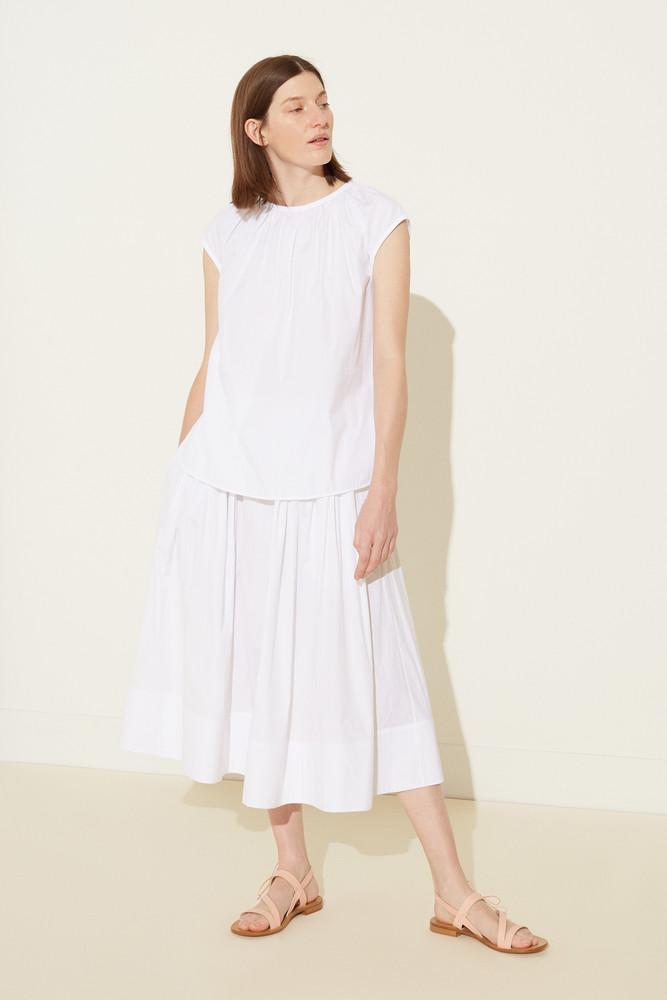 Mansur Gavriel Sleeveless Cotton Top - White