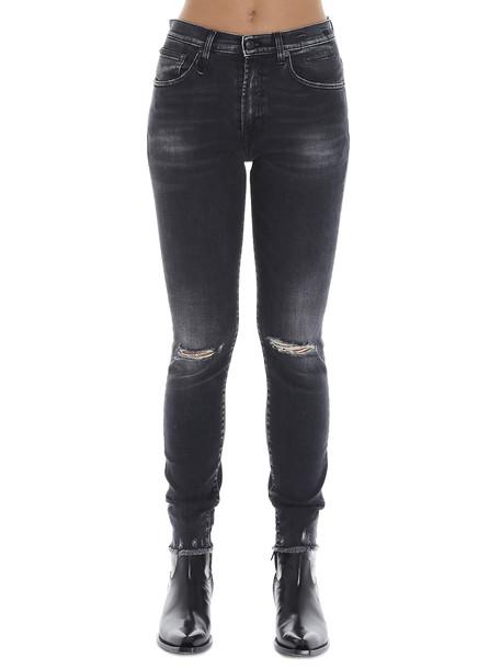 R13 high Rise Skinny Jeans in black