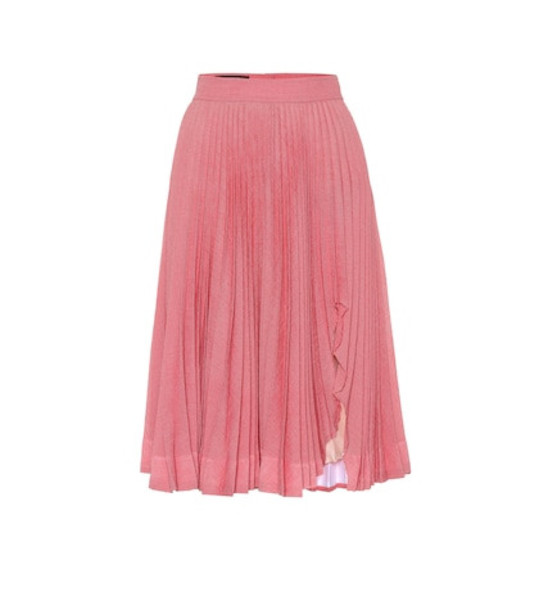 Calvin Klein 205W39NYC Pleated midi skirt in pink