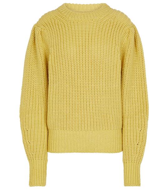 Isabel Marant, Étoile Pleane wool-blend knit sweater in yellow