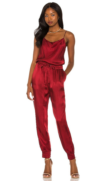 Cinq a Sept Finnley Jumpsuit in Red