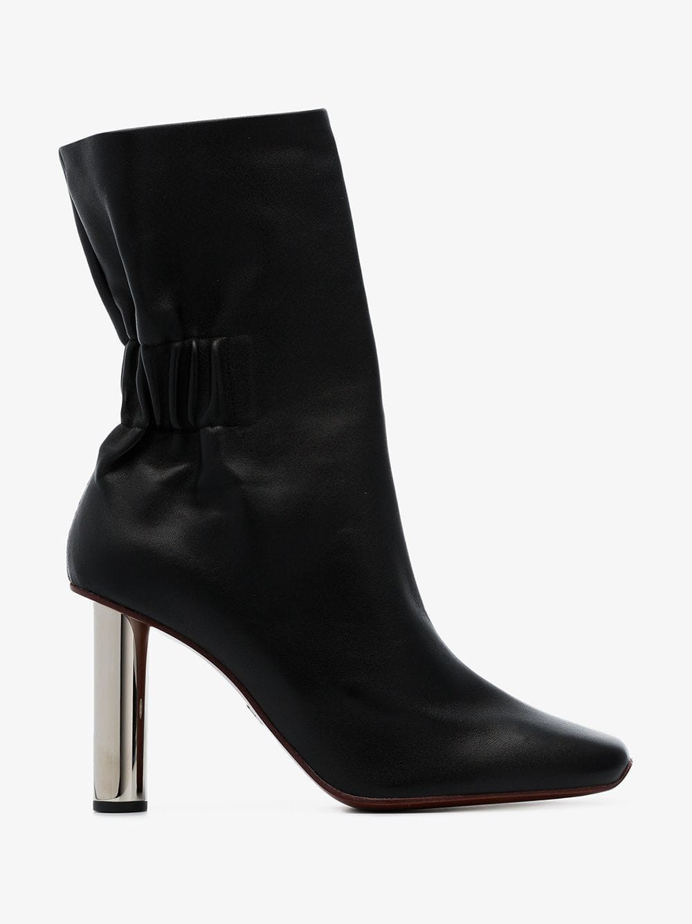 Proenza Schouler Ruched Nappa High Boots in black