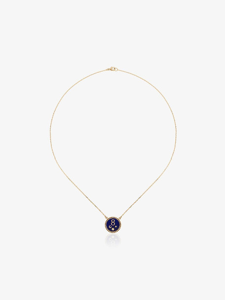 Foundrae karma petite champleve stationary necklace in metallic