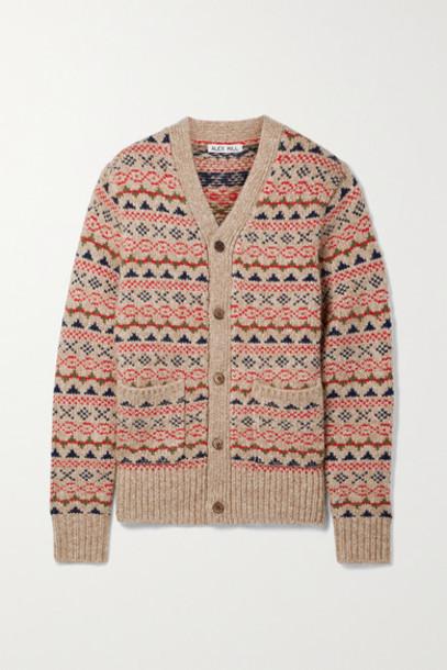 Alex Mill - Fair Isle Knitted Cardigan - Camel