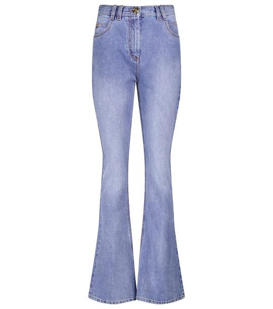 Balmain High-rise flared jeans in blue