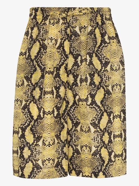 Cmmn Swdn Cody snake print drawstring shorts
