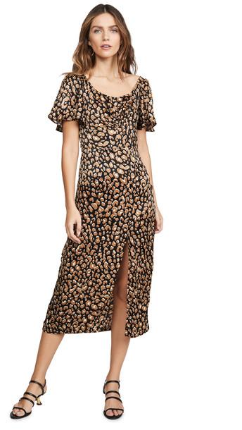 leRumi Maya Midi Dress in leopard