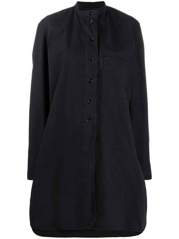 Lemaire stand-up collar shirt in black