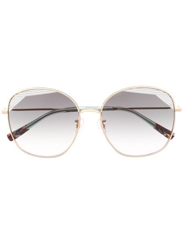 MISSONI EYEWEAR oversize frame sunglasses in gold